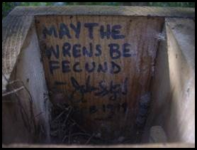May the wrens be fecund